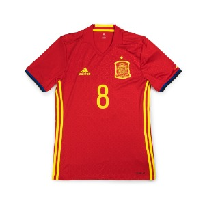 SPAIN 16-17 HOME S/S #8 A.INIESTA
