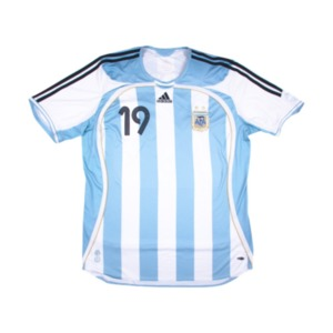 2006-2007 ARGENTINA HOME S/S #19 MESSI