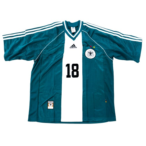 GERMANY 1998-2000 AWAY S/S L #18 KLINSMANN