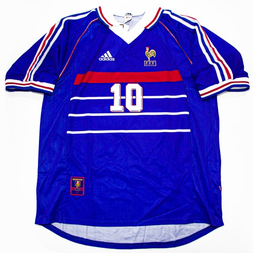 FRANCE 1998-2000 HOME S/S L #10 ZIDANE