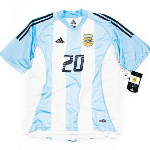 ARGENTINA 2002-2004 HOME S/S AUTHENTIC L #20 GALLARDO