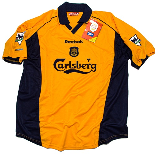 LIVERPOOL 2000-2002 AWAY S/S L #17 GERRARD