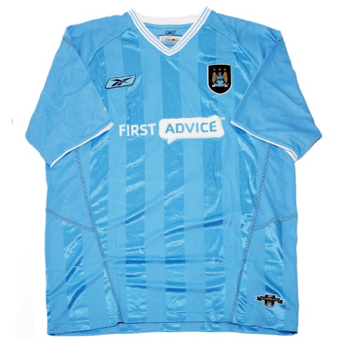 manchester city 2003-2004 HOME S/S XL #20 McMANAMAN