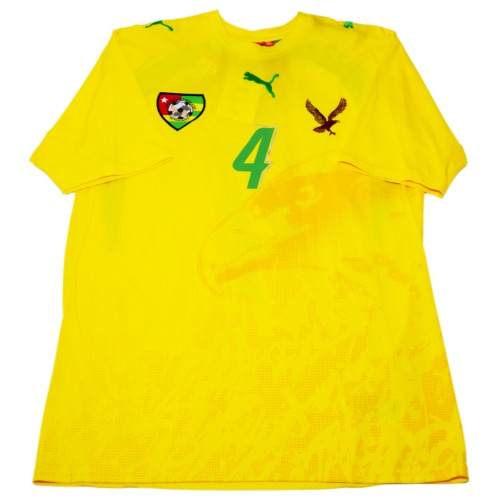 Togo 2006-2007 HOME S/S M #4 ADEDAYOR (W/TAG)