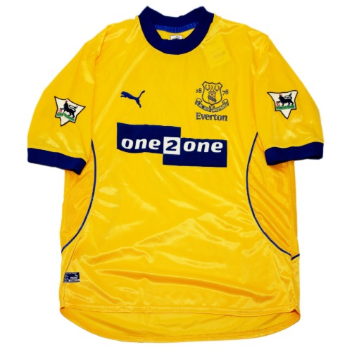 everton 2000-2001 AWAY S/S L #18 gascoinne