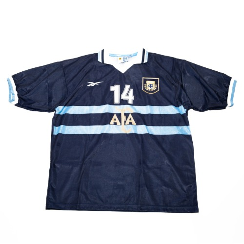 Argentina 1999-2001 AWAY S/S XL #14 POCHETTINO (W/TAG)